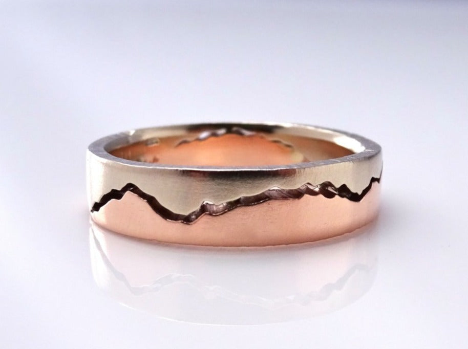 Mixed Gold Mountain Ring