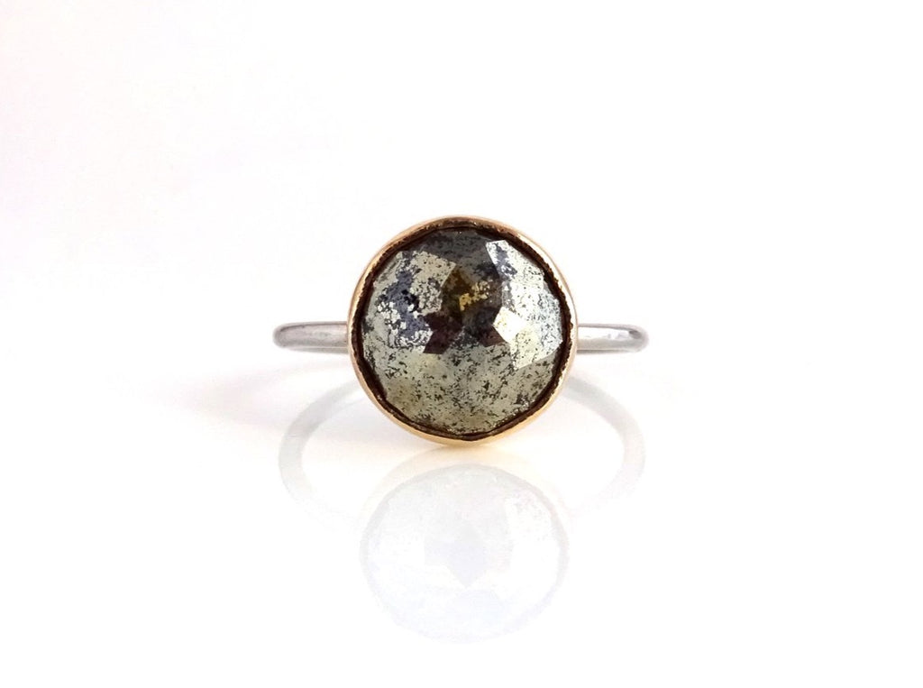 Pyrite Stacker Ring