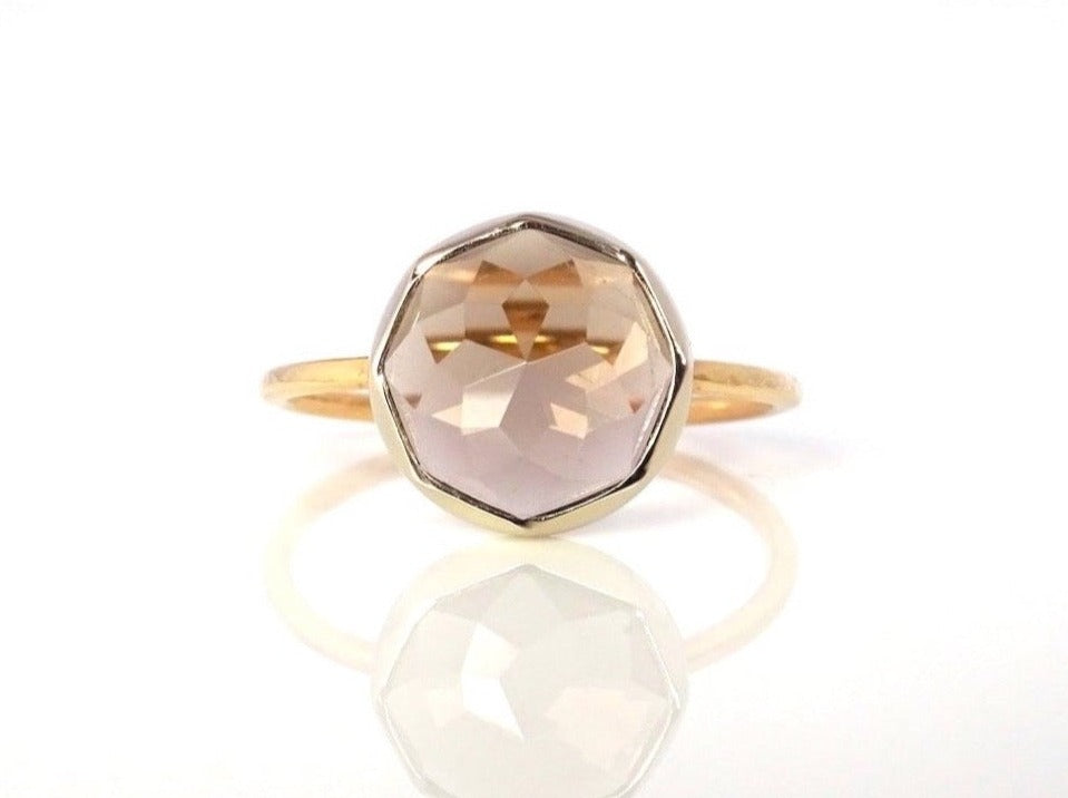 Smoky Quartz Stacker Ring