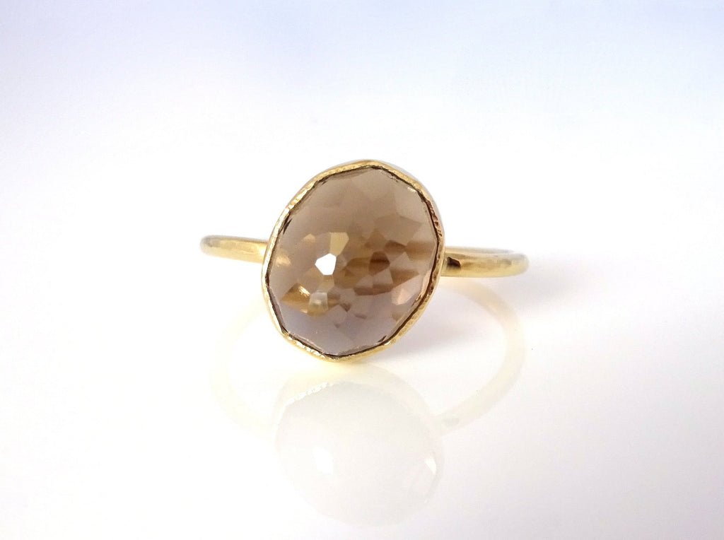 Smoky Quartz Nena Stacker Ring