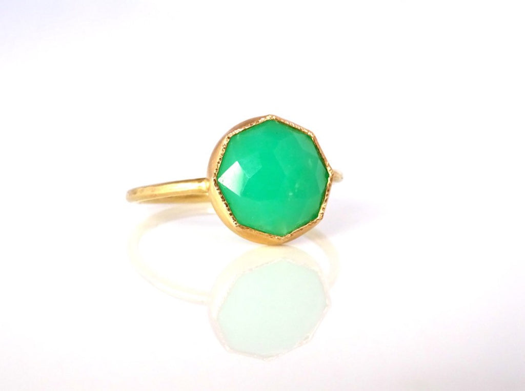Chrysoprase Stacker Ring