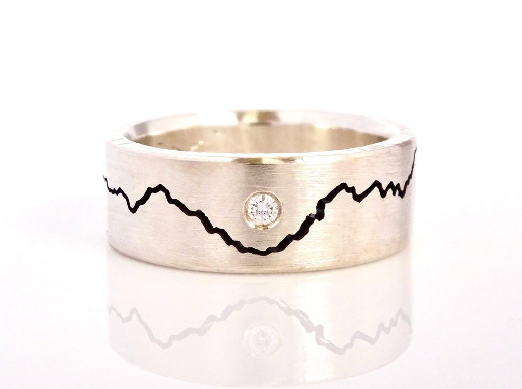 Add a diamond to your Custom Modern Mountain Ring