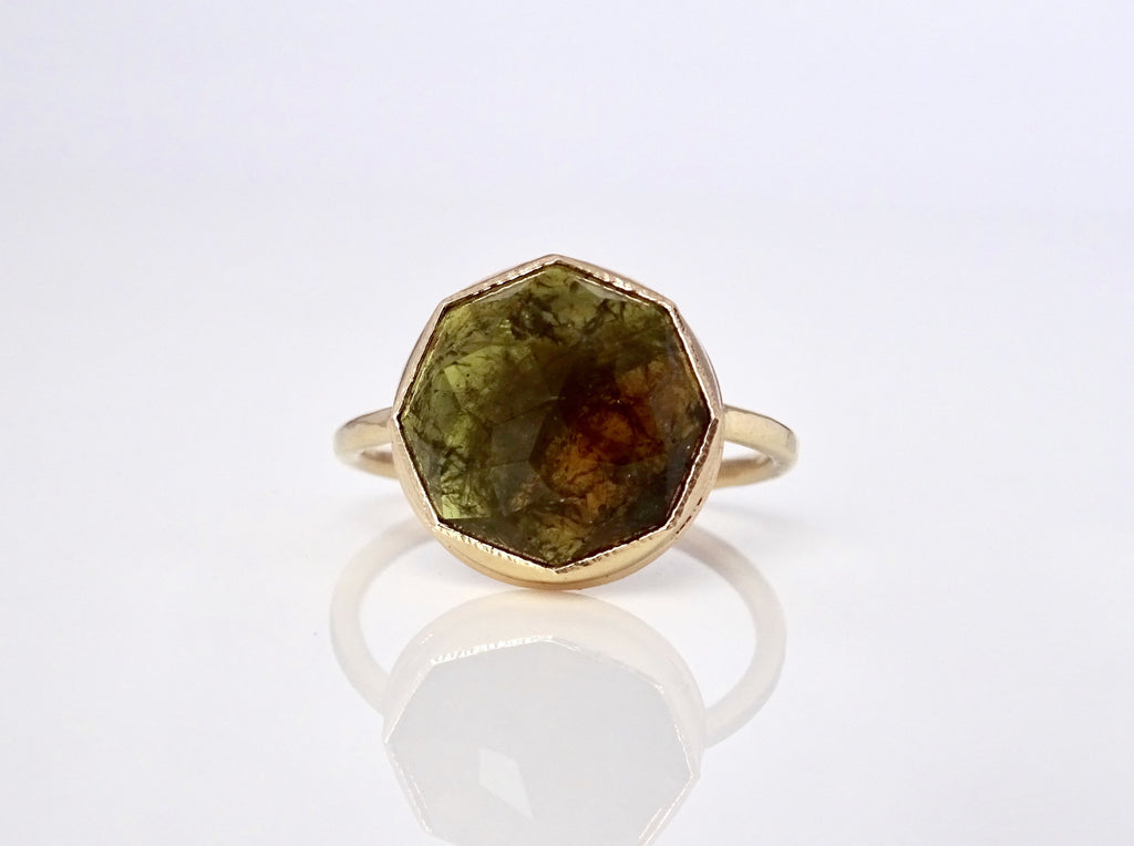 Green Garnet Stacker Ring