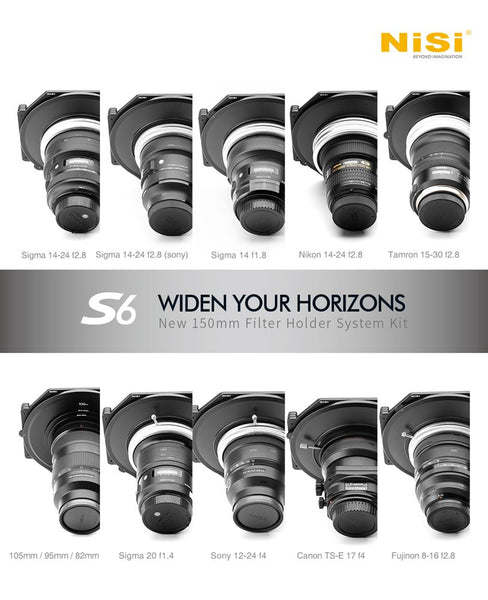 NiSi Ireland S6 Filter Holder Lens Range