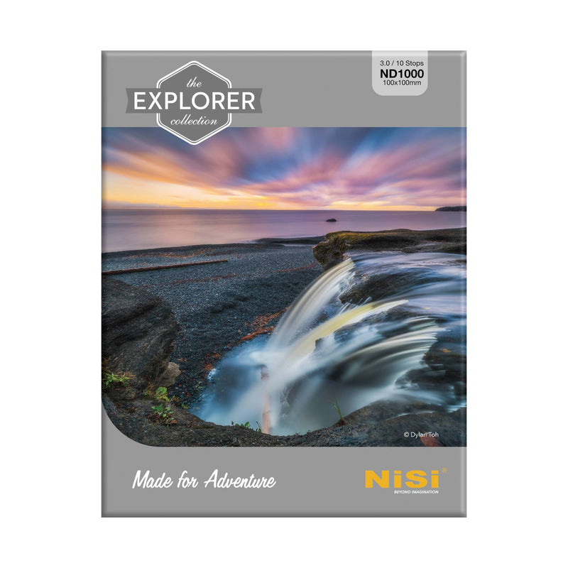 camera-filters-NiSi-Ireland-100mm-Explorer-hardened-10-stop-3-0-nd1000-neutral-density-filter-box