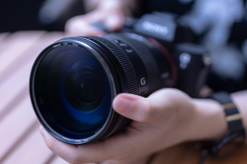 camera-filters-NiSi-Ireland-46mm-natural-cpl-circular-polarizing-filter-fitted-on-camera