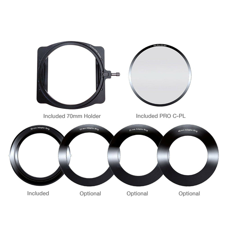 camera-filters-NiSi-Ireland-70mm-filter-holder-contents
