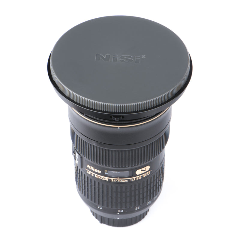 camera-filters-NiSi-Ireland-protection-lens-cap-v3-v5-pro-attached-nikon-24-70