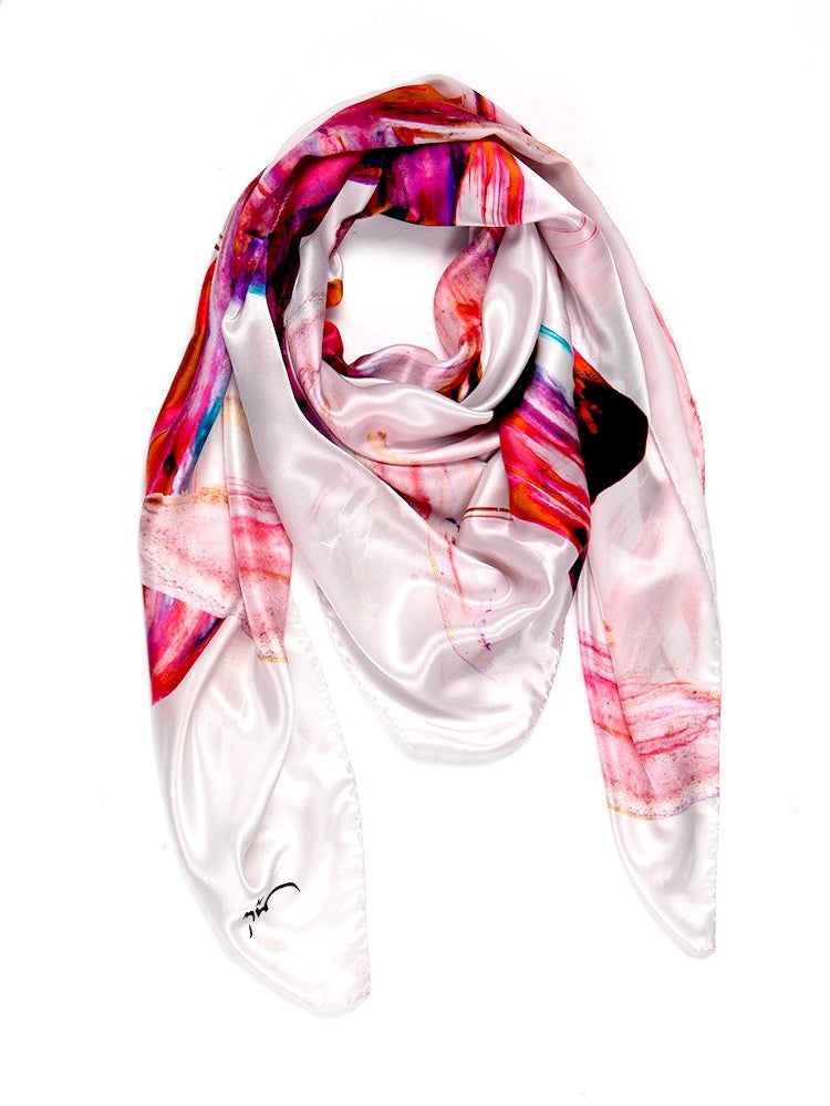 Nahara Peace in Orange and Pink Scarf