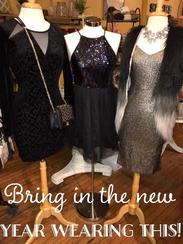 Sequin/Black Tulle Dress - MOD Boutique