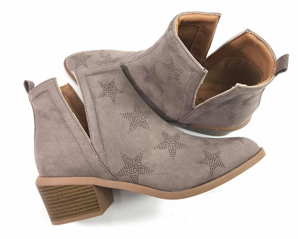 taupe star bootie
