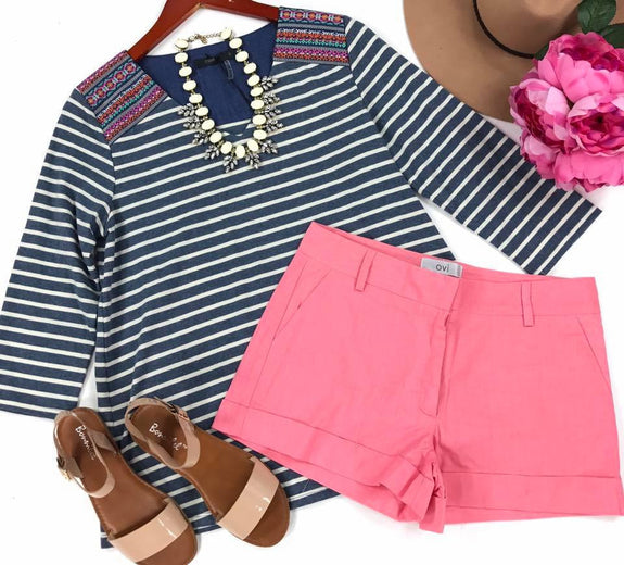 bright pink shorts - MOD Boutique