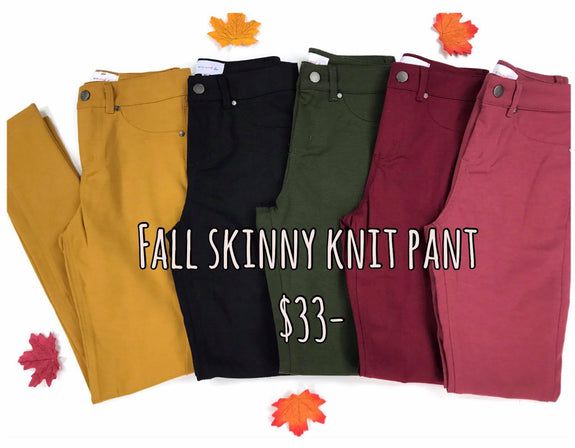 Fall 17' Skinny Knit Pants (5) - MOD Boutique