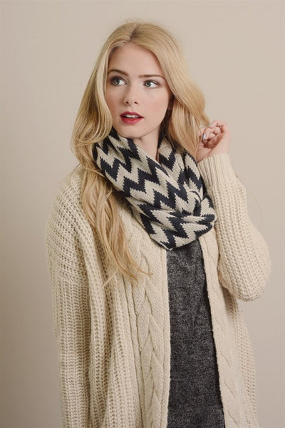 chevron knit infinity scarf(2) - MOD Boutique