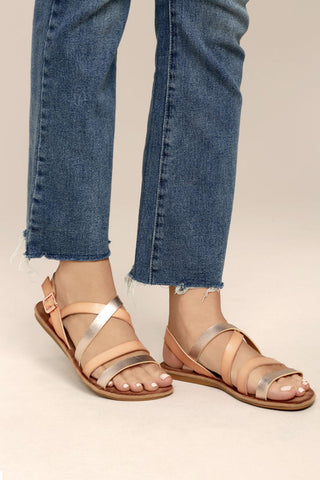 Made-23 Blush Metallic Sandal