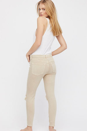 FP-High Rise Busted Skinny-Khaki