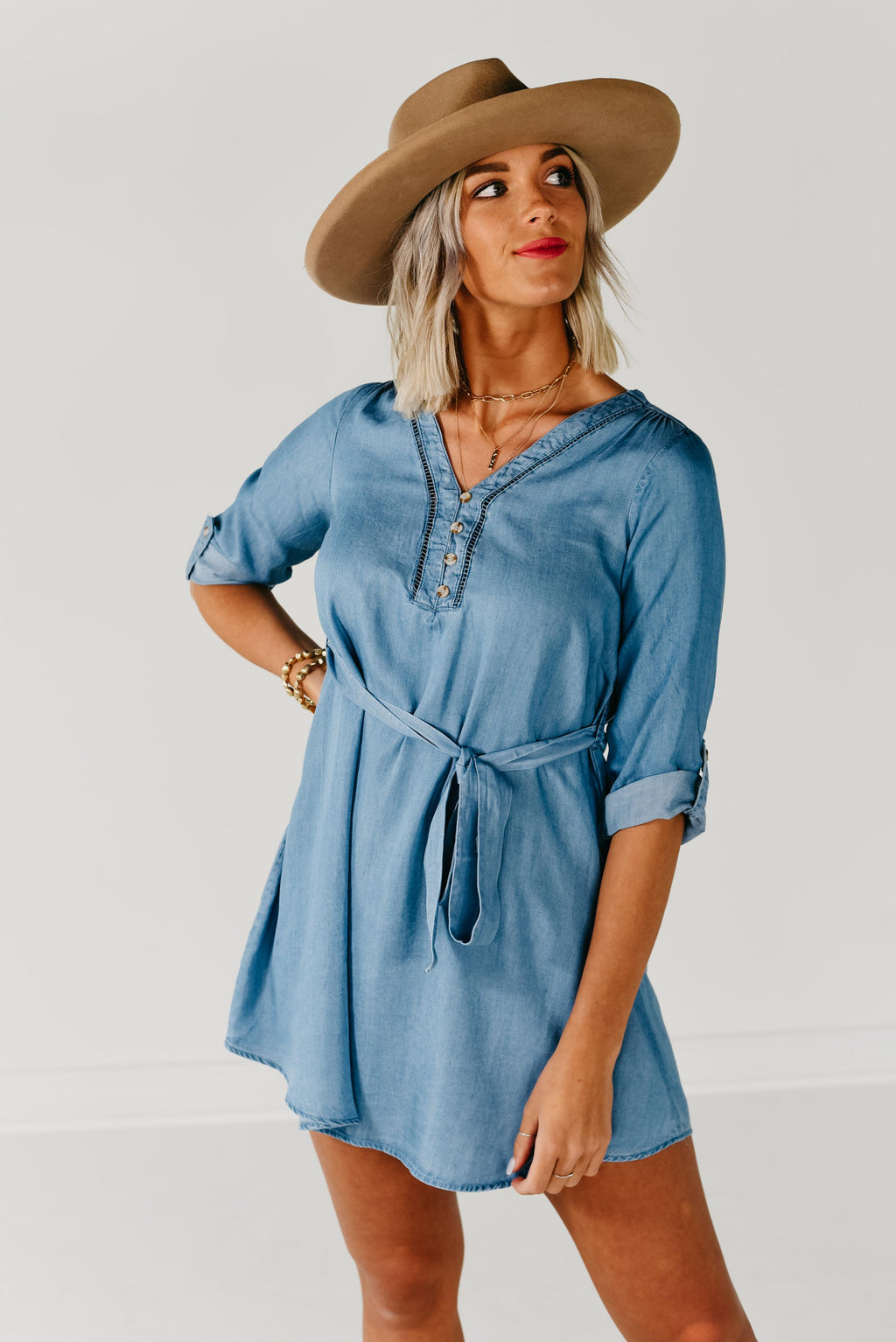 The Orion Dress - Chambray