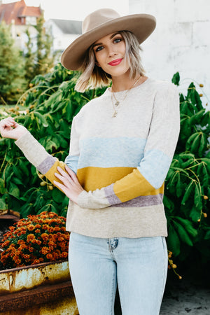 The Carmen Block Sweater - Multi
