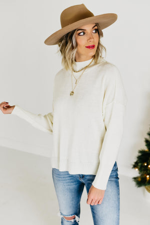 The Kierslynn Seam Sweater - Ivory