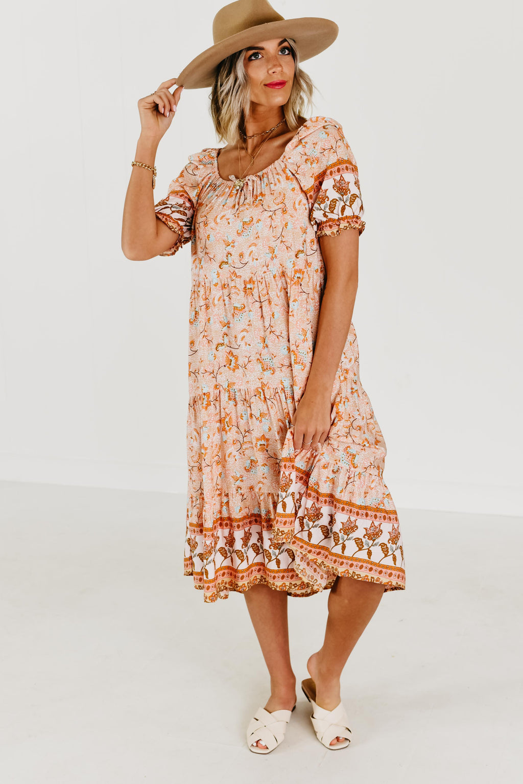 The Wren Dress - Coral Multi