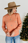 The Lucca Embroidered Sweatshirt - Salmon