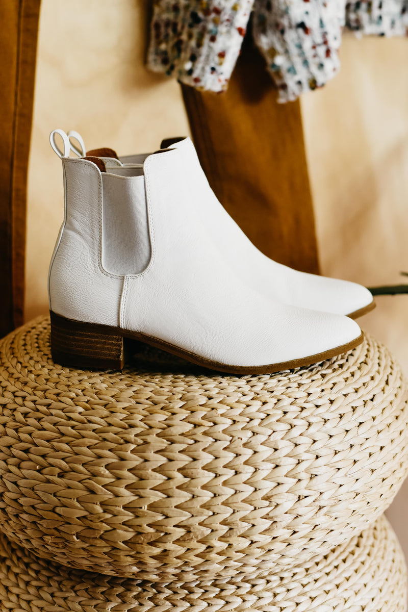 The Norway Chelsea Bootie ||  White