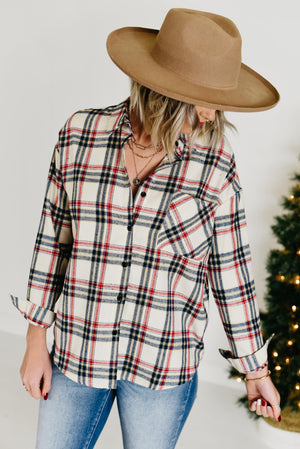 The Clay Plaid Shirt - Navy
