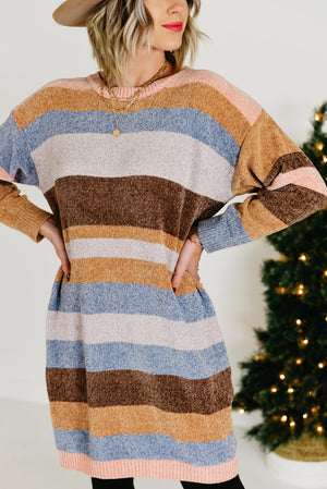 The Cassidy Chenille Sweater Dress - Multi
