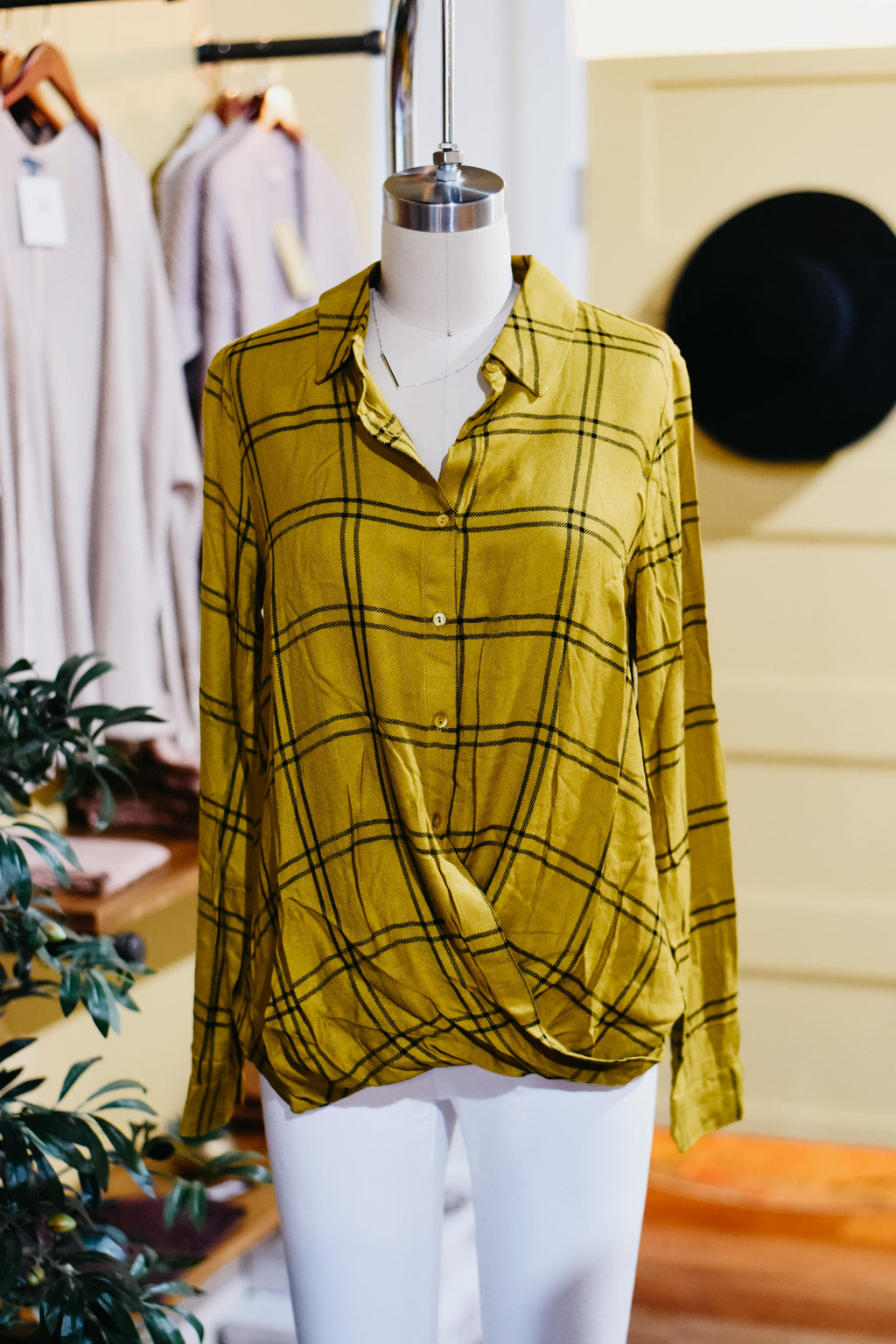 MMD || The June Cross Front Plaid - Mustard