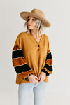 The Caylee Bubble Sleeve Sweater - Camel