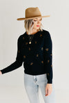 The Canyon Embroidered Sweater - Navy/Mustard