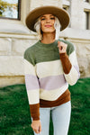 The Celia Sweater - Cream Multi