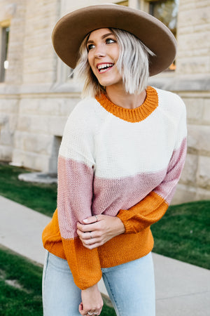 The Annabelle Sweater - Rust Multi