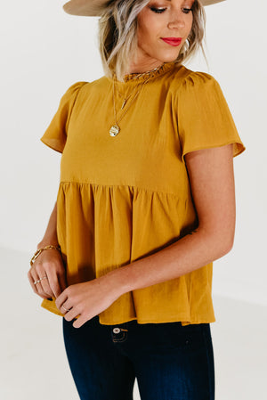 The Shawna Smock Top - Ivory