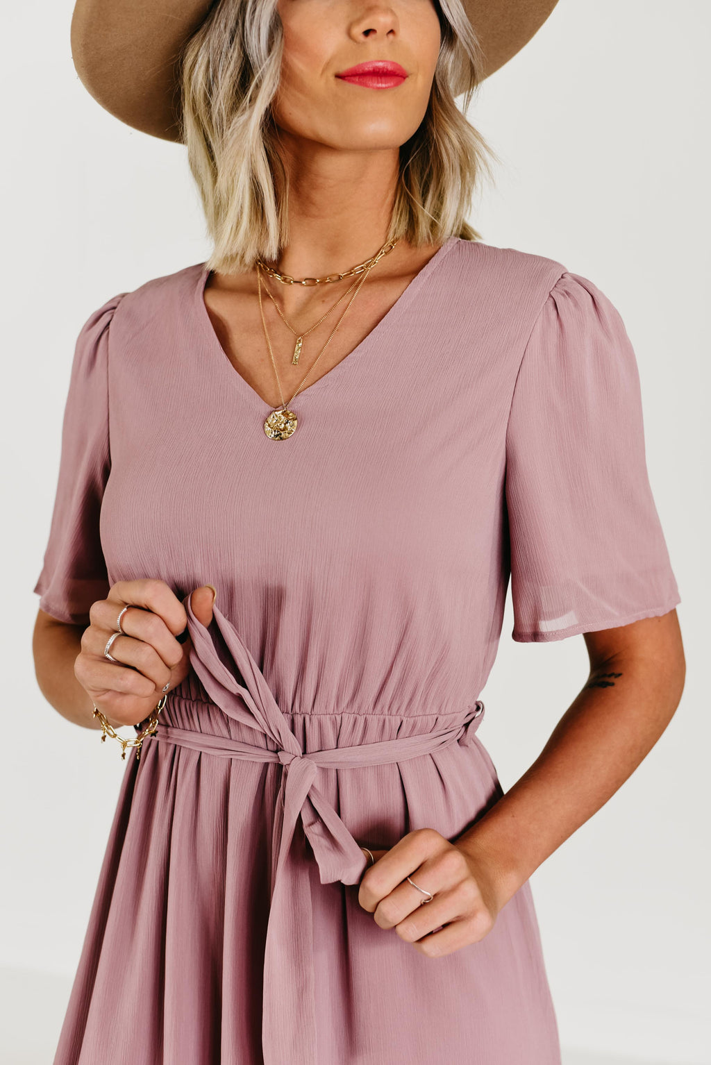 The Julia Dress - Mauve