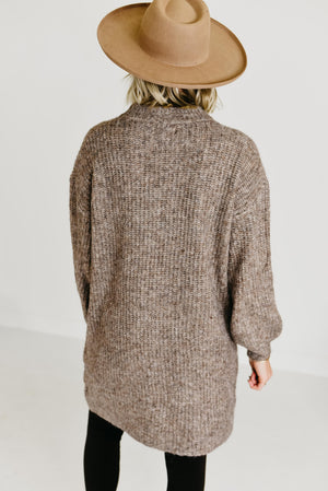 The Bowie Sweater Dress - Taupe