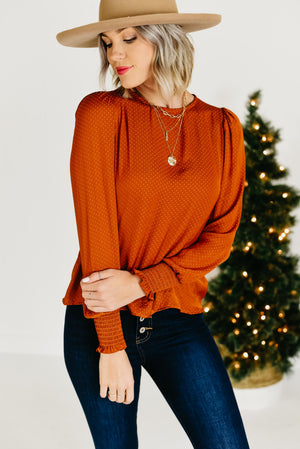 The Italia Blouse - Rust
