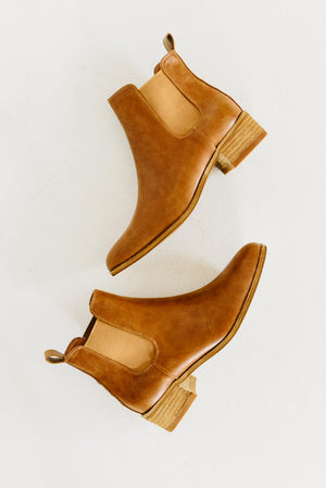 The Norway Bootie Button Bootie - Camel