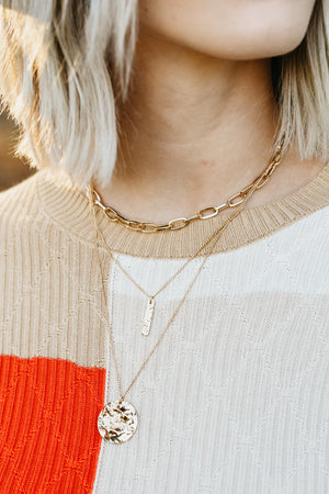 The Gazer Necklace - Gold