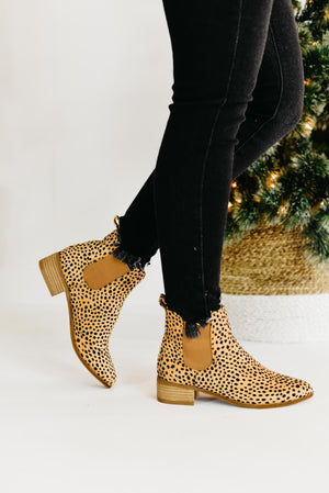 The Norway Bootie - Cheetah Suede