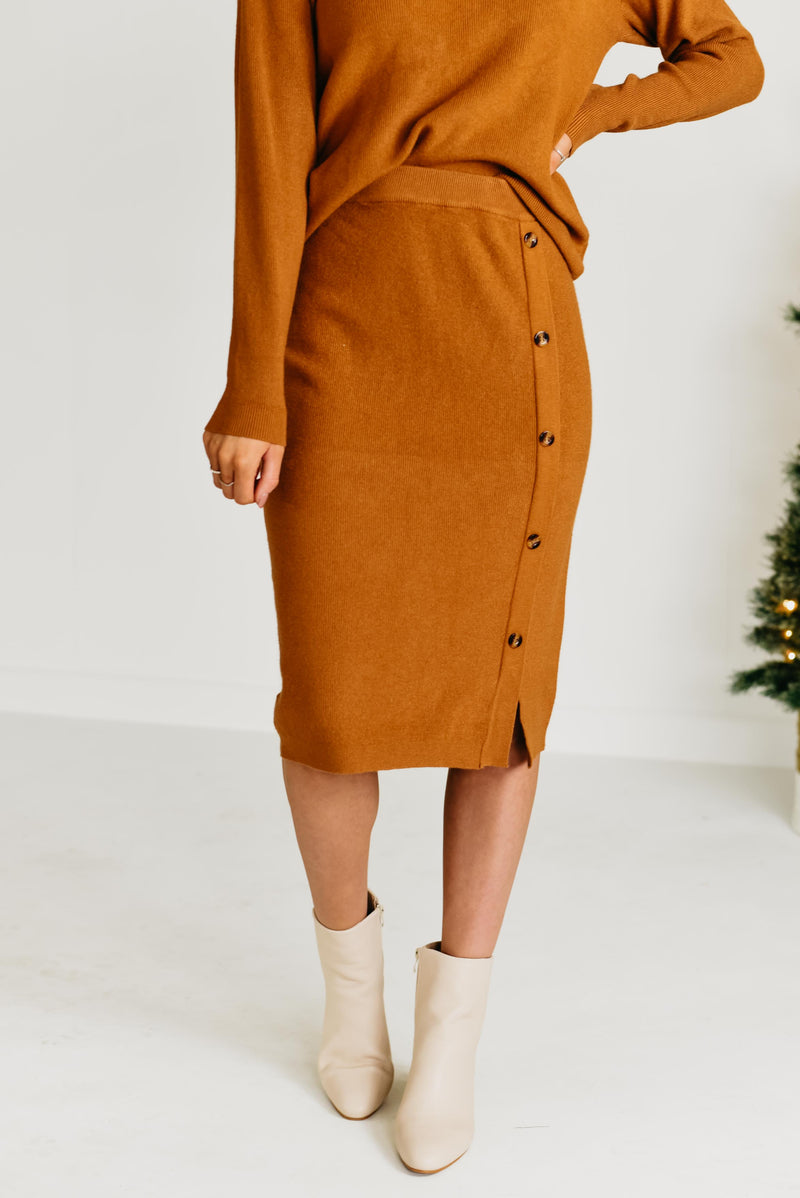 The Maribel Sweater Skirt - Camel