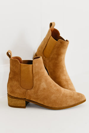 The Norway Bootie - Camel Suede