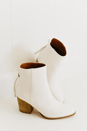 The Wendy Bootie - White