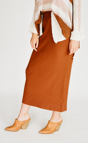 The Oaklyn Skirt - Brick