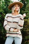 The Wallace Stripe Sweater - Beige