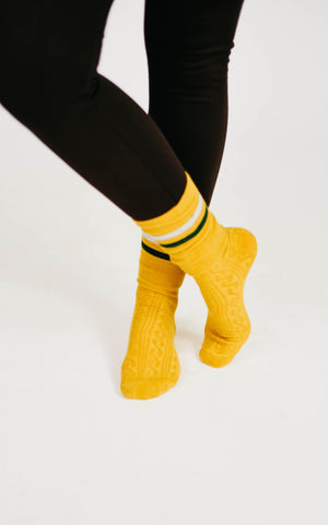 Color Tube Blocked Ankle Socks - 2 Colors