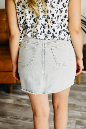 The Bettie Skirt - Light Denim