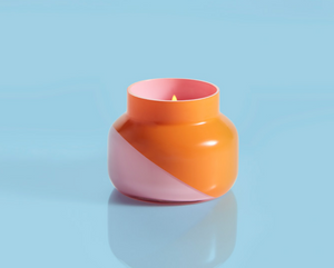 Volcano Dual Tone Candle - Orange/Pink Mini Jar