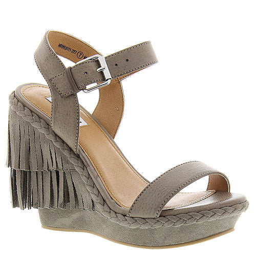 Roaring Ruby Fringe Wedge - MOD Boutique