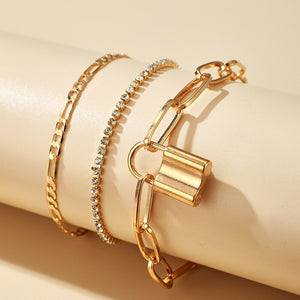Multilayer Padlock Anklet